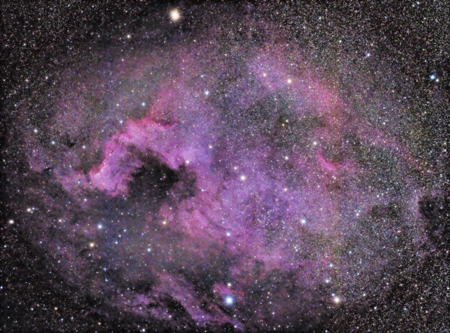 First time I noticed the band on this image of NGC7000