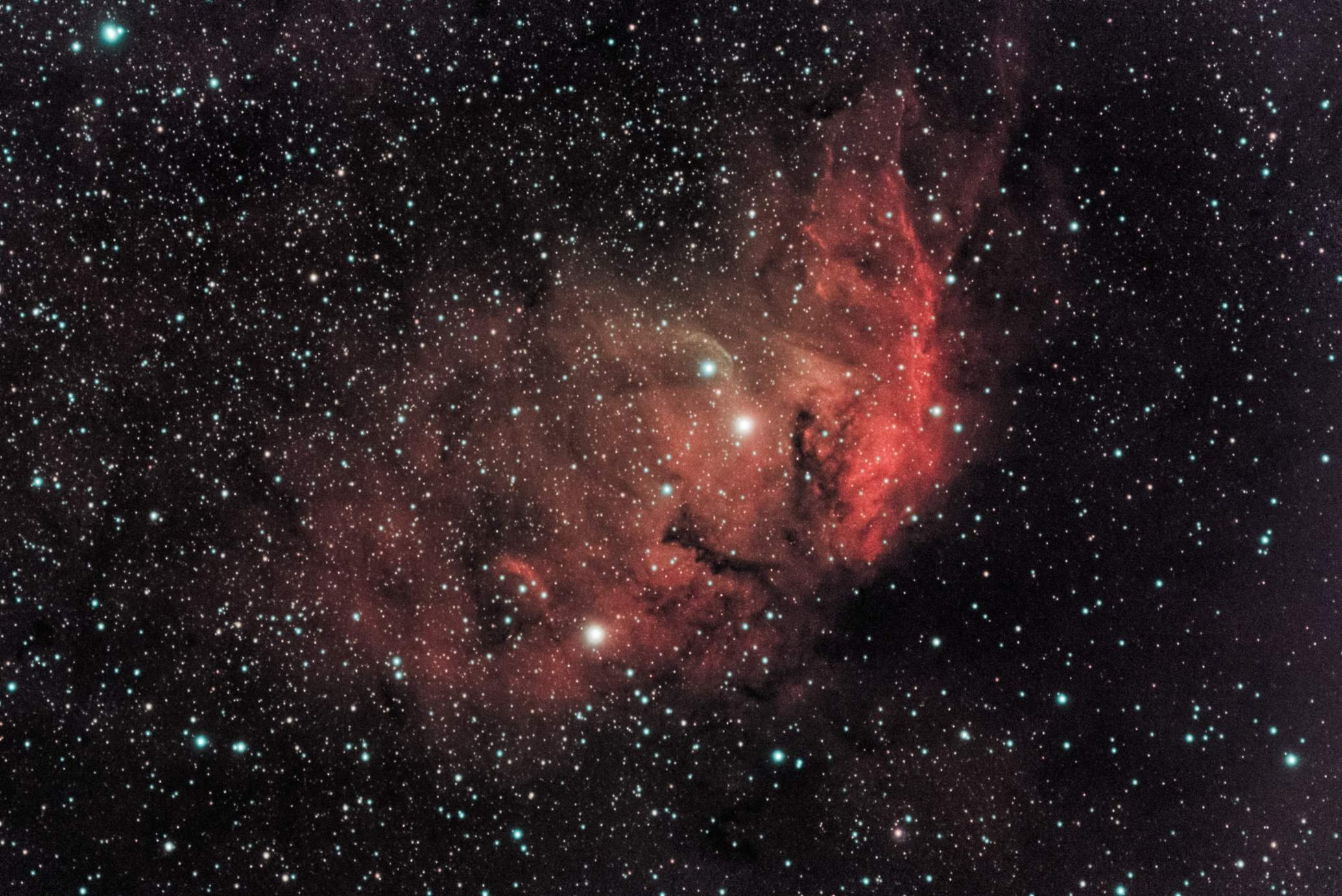 Tulip Nebula LeNhance narrowband 20x 10 minute exposures GAIN=1600